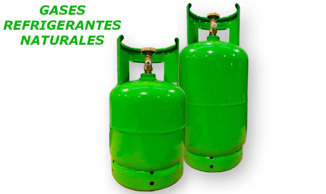 Botella de gas refrigerante natural