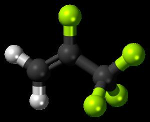 Molécula de hidrofluorocarbonos